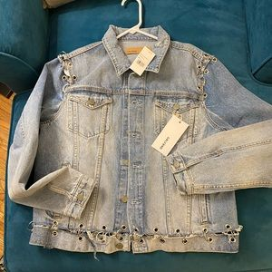 GRLFRND Grommet Denim Jacket